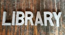 Antique Trade Sign Library Zinc Letters