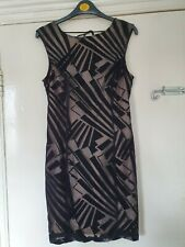 LIPSY LITTLE BLACK & NUDE BACKLESS DRESS. SIZE 12