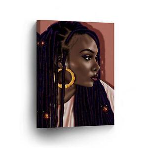 Sexy African Woman Rasta Hair Pink CANVAS PRINT CANVAS PRINT Wall Art Home Decor