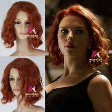 The Avengers Black Widow Natasha Romanoff Short Curly Synthetic Cosplay Wig G041