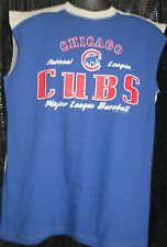 CSA CHICAGO CUBS BASEBALL SHIRT SZ LG 90%COTTON/10%POLYESTER RED WHITE & BLUE
