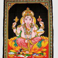TENTURE MURALE TABLEAU Ganesh inde Bollywood Thangka GOA HIPPIE Tableau mural 3