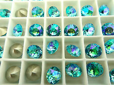 6 Light Turquoise Glacier Blue Swarovski Crystal Chaton Stone 1088 39ss 8mm
