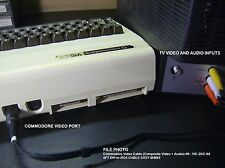 6' Commodore Video A/V Cable (Composite Video + Audio) - VIC-20/C-64/C-128
