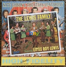 LITTLE ROY LEWIS autographed 8x10 w/ Nate Gibson & the Stars of Starday 2xLP NEW