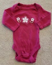 DARLING! BABIES R US NEWBORN BURGUNDY FLOWER BODYSUIT