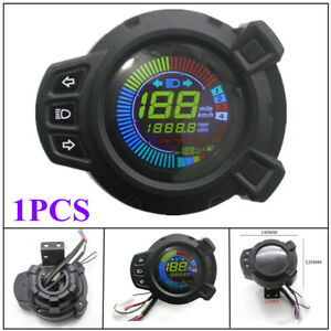 1PCS Scooter Bike Color LCD Screen Instrument Gauge Odometer Moped Speedometer