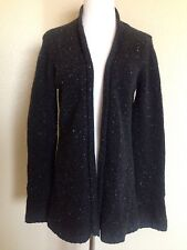 Vince cashmere open front Ribbed cardigan Sweater Charcoal Gray SZ Large