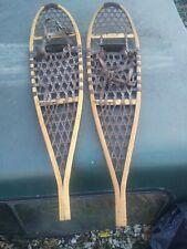 Vintage wood snow shoes! L.L.Beans! The Maine Snowshoes co! Apear in good shape!
