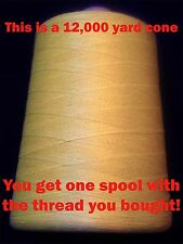 100 yd heavy TEX135 DuPont KEVLAR Thread - Shoe + Boot Repair Leather sewing etc