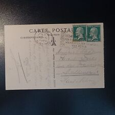 FRANKREICH PASTEUR NR.170 BRIEF KARTE CP COVER OB. MECHANISCHE+CAD NICE ALPES