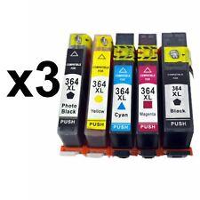 15 cartucho Impresora gen con chip HP 364 XL Photosmart b010a Deskjet 3070a 3520