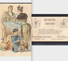 Spanish American War Poem Brownies Troy Globe Laundry Denver CO 1898 Trade Card