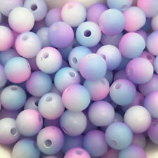 5mm 100pcs Round Pearl Matte multicolored Loose Beads Spacer Jewelry Making #10