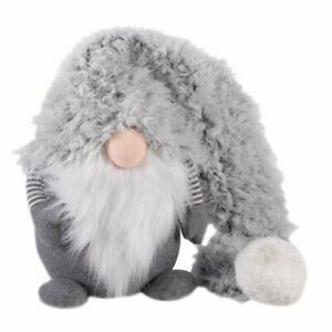 Christmas 28cm Bearded Gonk grey w long hat Super-Furry Winter Wolf Gonk