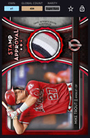Topps Bunt Card Trader - Tribute Mike Trout Stamp of Approval red Relic DIGITAL