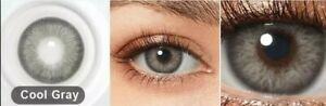Cool Gray Color Eye Lens 0 Power Multi Plus Solution with Storage.