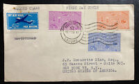 1957 Lahore Pakistan First Day Airmail Cover FDC to New York Usa USA