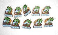 Lot de 10 pin's restaurant MAEVA TAHITI noix de coco, cocotiers