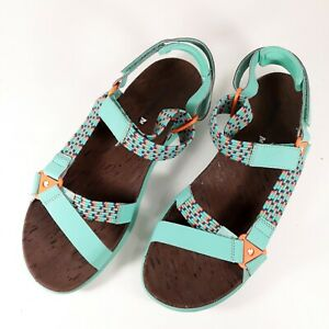 Merrell Womens Shoes Sz 11M Turquoise Orange Outdoor Hiking Sandals Select Grip