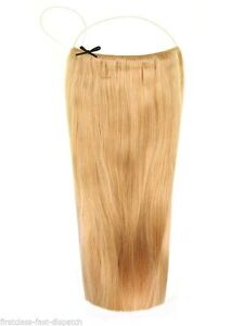 """Honey Blonde #22 20"""" - Halo London 100% Indian Remy Human Hair Extensions Full"""