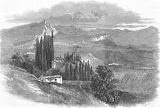 ITALY. Pastrengo, belvedere of Marinelli family, antique print, 1848
