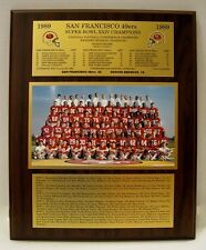 1989 San Francisco 49ers Super Bowl Championship XXIV Plaque by Healy Awards