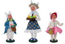 Byers' Choice Carolers Easter Family Women, Girl and Boy with Bunny New 2018