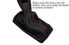 Red Stitch Leather Pelle Auto Automatico GEAR GAITER si adatta a FIAT CROMA 2005-2010