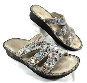 GUC Alegria Dinah Cuero Fawn Dottie Sandals Slides Sz 38 US 7.5-8