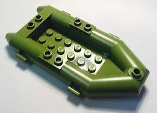 LEGO. Green/ Khaki Rubber Boat. Zodiac. X1. 100% Genuine.