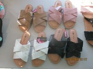 Chatties sandals crisscross staps 4 colors & 4 sizes all new