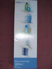 Mainstays Chrome Bath and Shower Caddy / Brand NEW in Box