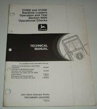 John Deere 310se 315se Backhoe Loader Operational Check Opamptest Technical Manual