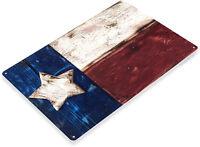 TIN SIGN Texas Flag Metal Décor Rustic Wall Art Store Shop Bar Cave B070