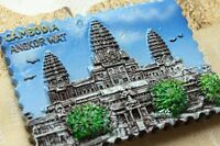 Cambodia Angkor Wat Tourist Travel Souvenir 3D Resin Fridge Magnet Craft Gift
