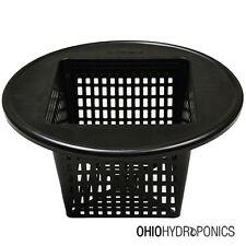 "6"" inch Square Mesh Net Pot Lid 5-3 GALLON BUCKET Hydroponics"