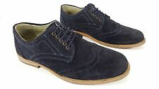 Ask The Missus Blue Suede Wingtip Brogue Shoes Uk 7 Eu 41