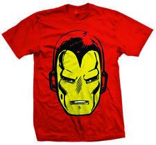Iron Man Big Head Men's T-shirt Red XXL