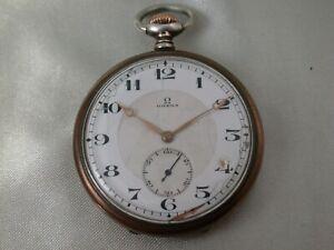 Antike OMEGA Taschenuhr Silber 800 um 1920