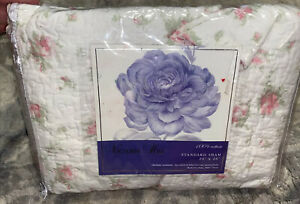 NEW SHABBY CHIC STYLE PINK FLORAL STANDARD SHAM