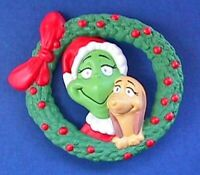 Hallmark PIN Christmas Vintage DR SEUSS GRINCH MAX Wreath Holiday
