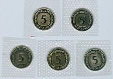 BRD  5 DM ADFGJ  stempelglanz oBH  (Wählen Sie unter: 1991 - 2001)