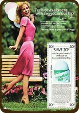 1980 LEGGS PANTYHOSE Vintage Look DECORATIVE METAL SIGN - SEXY JEANNIE BARBARA E