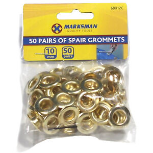 Good Quality Brass Coated Eyelets w/washer Grommets Gold 10mm