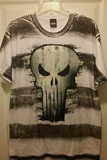 New Marvel Comics Punisher Big Skull Garment Dyed Adult Large T-shirt antihero _