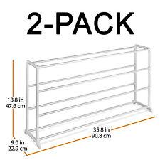 2-Pack 4 Tier Shoe Rack Organizer - Home Shoe Collection Organization