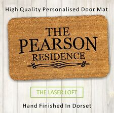 Personalised Engraved Coir Door Mat 40cm x 60cm