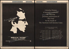 THE FRONT__Original 1976 World Premiere Trade AD promo_poster__WOODY ALLEN__ACLU