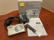 Nikon COOLPIX S3700 20.1MP Digital Camera 26478 - Silver